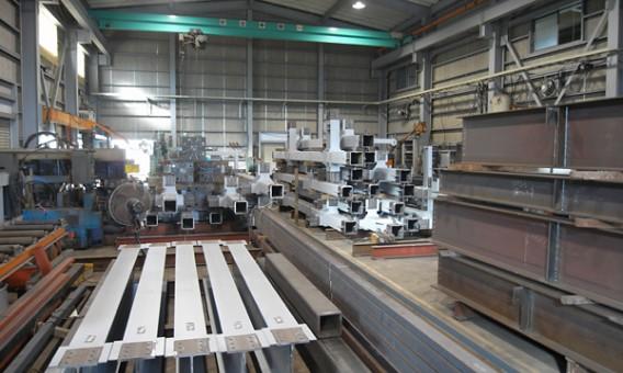 Quy trình sản xuất kết cấu thép tiền chế.