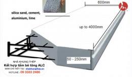 Nhà Khung Thép Kết Hợp Tấm Bê Tông ALC