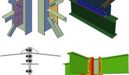 Các loại liên kết dầm với cột trong nhà khung thép