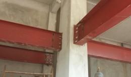 Keo hoá chất dùng nâng tầng cho nhà khung thép