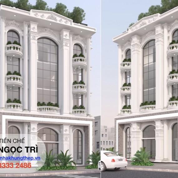 Nhà thép tiền chế - Building Ngọc Trì Long Biên