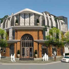 Nhà khung thép làm quán cafe Nam Định