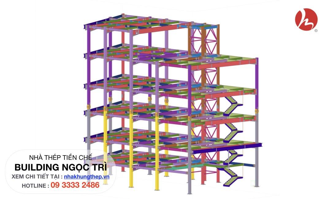 kết cấu thép BUILDING NGỌC TRÌ LONG BIÊN
