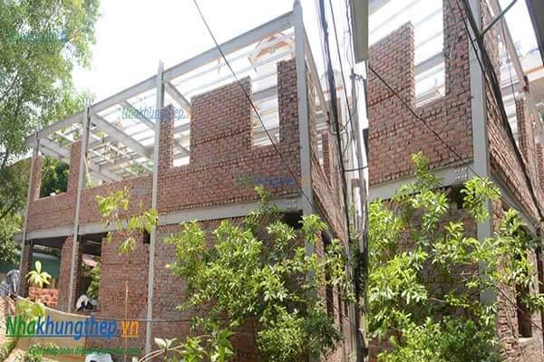 Làm nhà phố bằng kết cấu khung thép