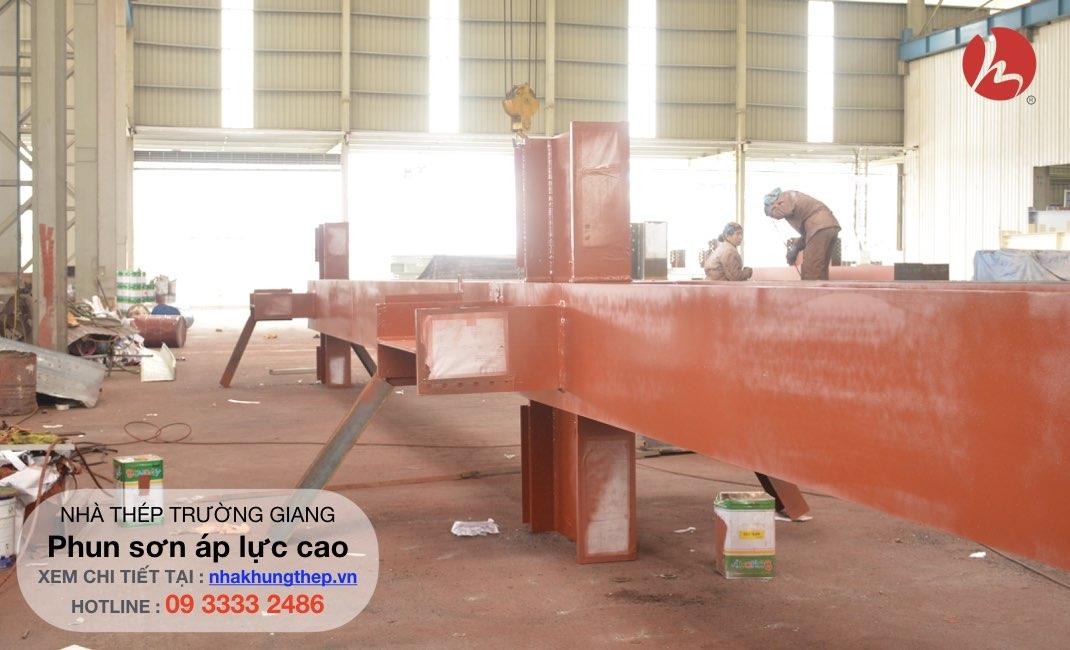 Máy thi công nhà thép tiền chế