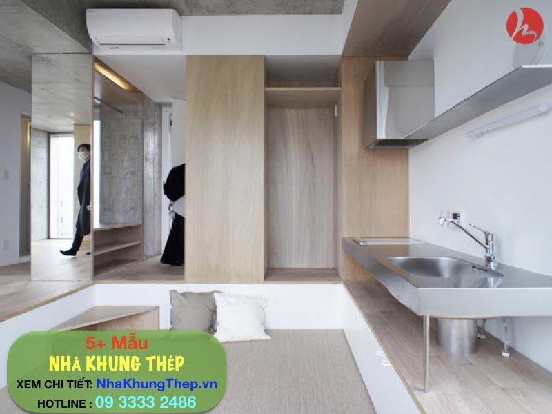 nội thất công trình nhà khung thép dân dụng 10 tầng